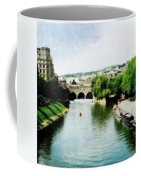 Pulteney Bridge Coffee Mug featuring the photograph The River Avon by Marilyn Wilson