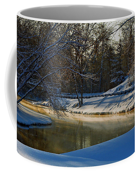 River Coffee Mug featuring the photograph The River Bend by Thomas Young
