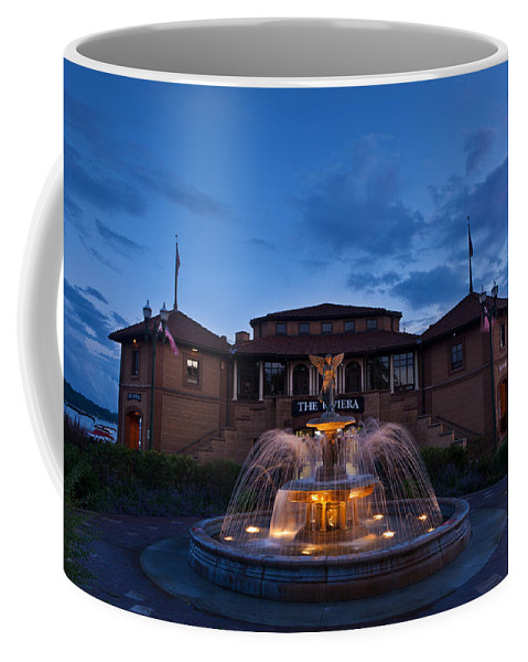 Lake Coffee Mug featuring the photograph The Riviera On Geneva Lake Wi by Steve Gadomski