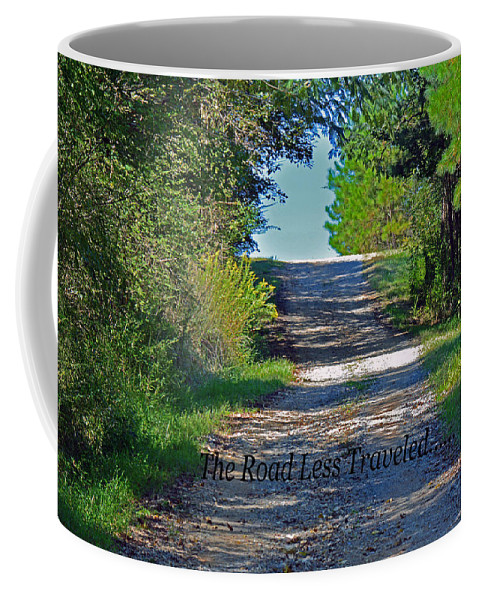 Forest Coffee Mug featuring the photograph The Road Less Traveled by Barb Dalton