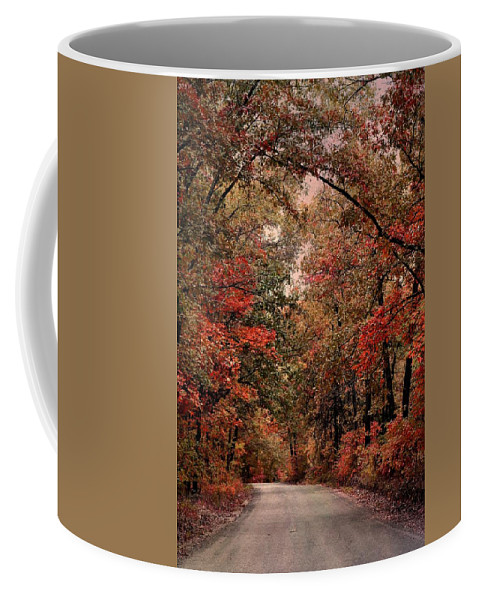 Autumn Coffee Mug featuring the photograph The Road To Home by Deena Stoddard