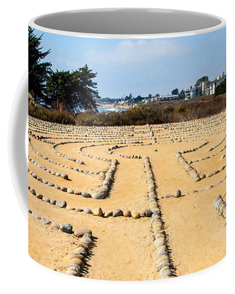 Rocks Coffee Mug featuring the photograph The Rock Maze Santa Barbara by Cathy Smith