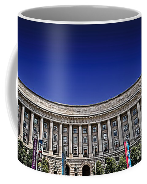 Federal Triangle Coffee Mug featuring the photograph The Ronald Reagan Building And International Trade Center by Tom Gari Gallery-Three-Photography