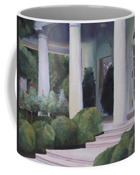 Coffee Mug featuring the painting The Rose Garden by Stephanie Hatfalvi