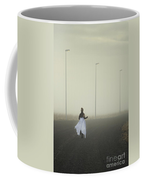 Woman Coffee Mug featuring the photograph The Runnaway Bride by Evelina Kremsdorf
