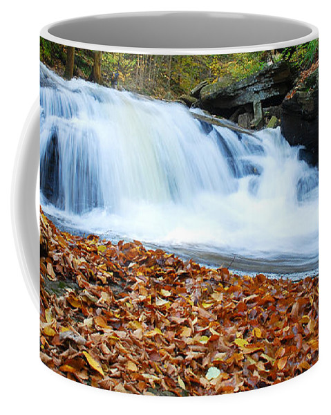 Waterfalls Coffee Mug featuring the photograph The Rushing Waterfall by Crystal Wightman