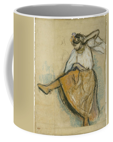 Edgar Degas Coffee Mug featuring the painting The Russian Dancer by Edgar Degas