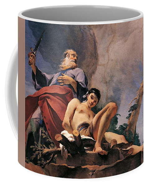 Painting Coffee Mug featuring the painting The Sacrifice Of Isaac by Giovanni Battista Tiepolo