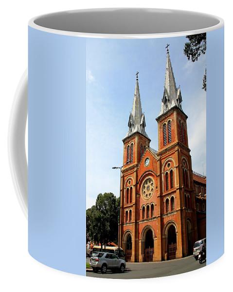 Saigon Coffee Mug featuring the photograph The Saigon Notre-dame Basilica by Laurel Talabere