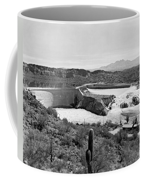 1941 Coffee Mug featuring the photograph The Salt River In Arizona by Underwood Archives