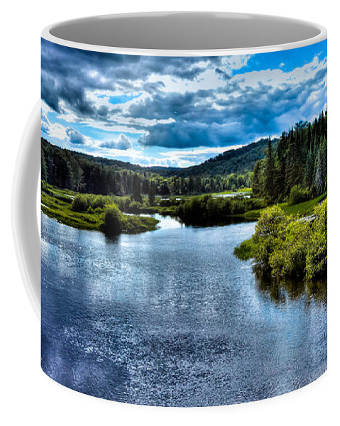 Adirondack's Coffee Mug featuring the photograph The Scenic Moose River by David Patterson