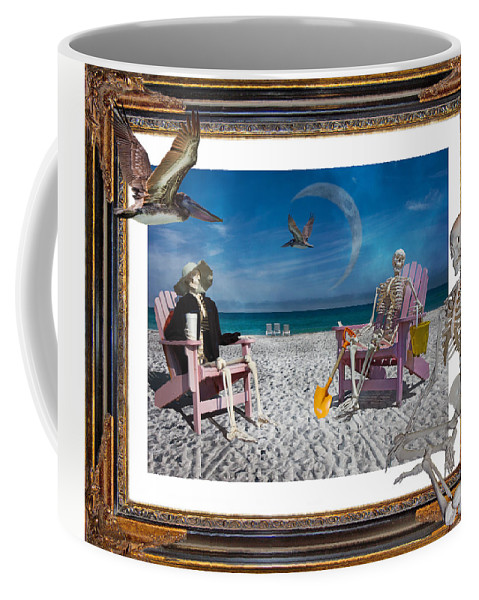 Doctor's Coffee Mug featuring the digital art The Scientist's Vacation by Betsy Knapp