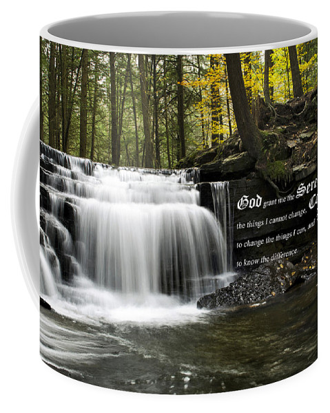 The Serenity Prayer Coffee Mug featuring the photograph The Serenity Prayer by Christina Rollo
