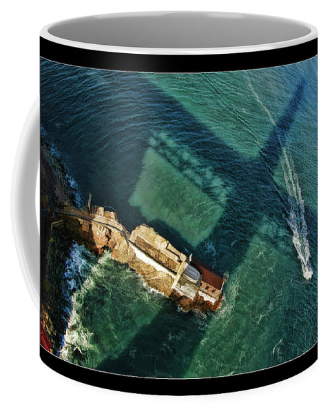 Golden Gate Coffee Mug featuring the photograph The Shadow Of The Golden Gate by Blake Richards