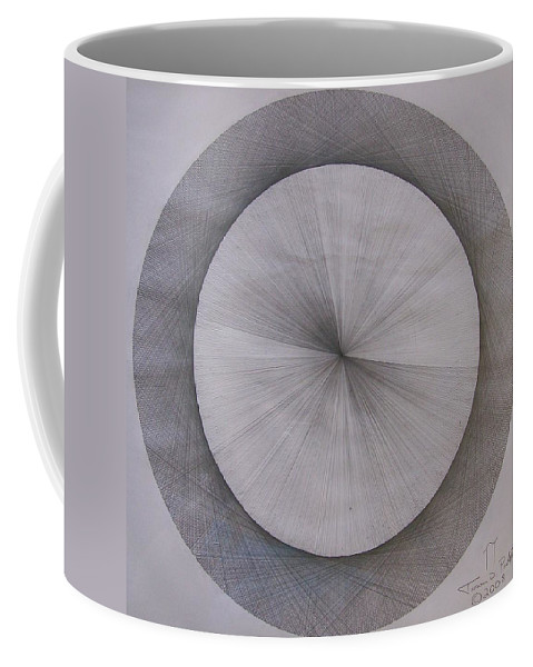 Pi Coffee Mug featuring the drawing The Shape Of Pi by Jason Padgett