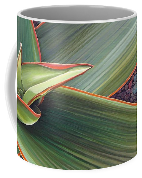 Succulent Coffee Mug featuring the painting The Shining Hour by Hunter Jay
