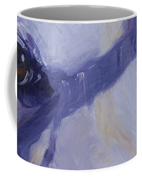 Eyes Coffee Mug featuring the painting The Soul Of The Dog #1 by Sheila Wedegis