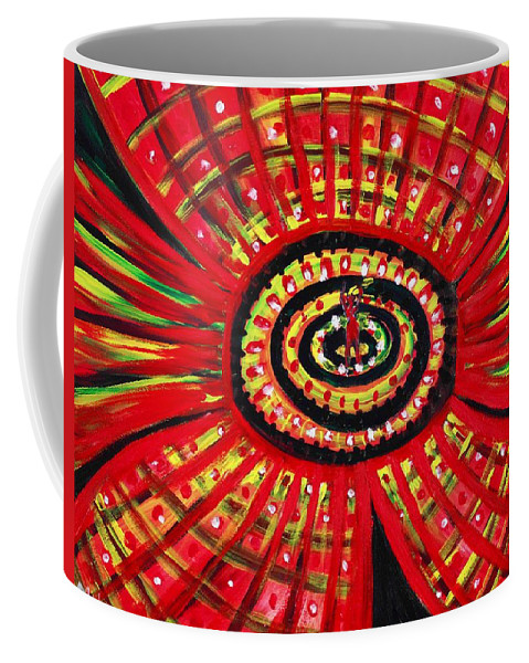 Abstract Coffee Mug featuring the painting The Soul Of The Flower by Anastasiya Malakhova