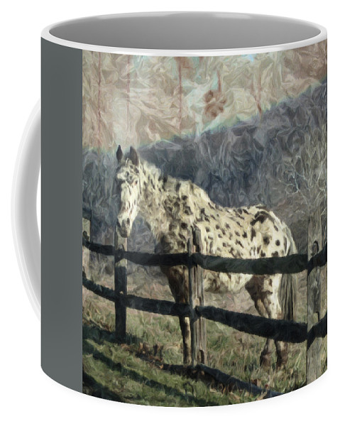 Horse Coffee Mug featuring the photograph The Speckled Horse by Trish Tritz