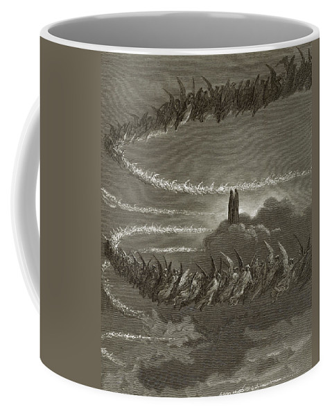Spirits Coffee Mug featuring the painting The Spirits In Jupiter by Gustave Dore