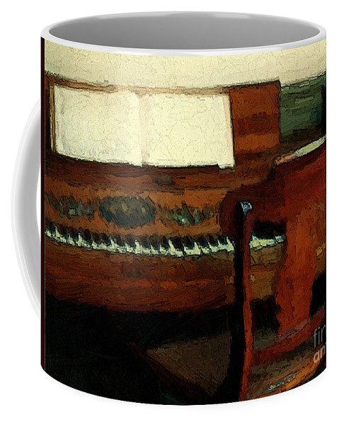 Colonial Coffee Mug featuring the painting The Square Piano by RC DeWinter