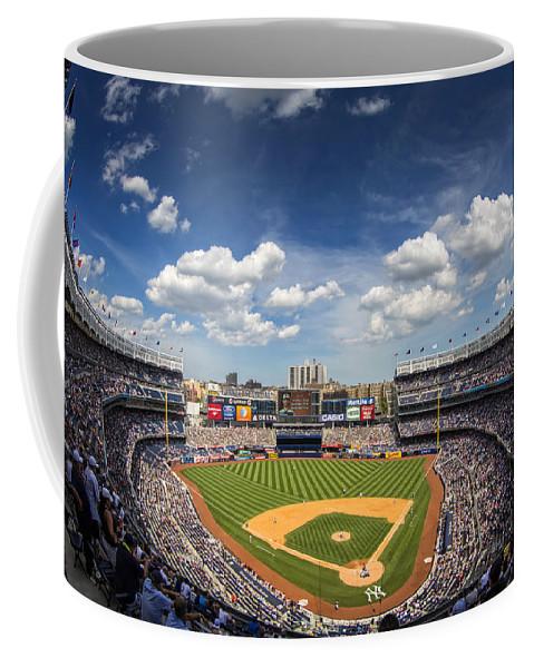 Ny Yankees Coffee Mug featuring the photograph The Stadium by Rick Berk