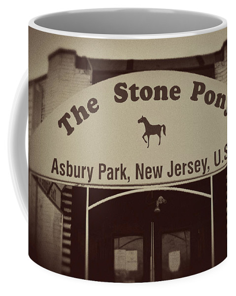 The Stone Pony Vintage Asbury Park New Jersey Coffee Mug featuring the photograph The Stone Pony Vintage Asbury Park New Jersey by Terry DeLuco