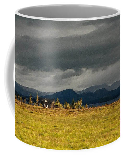 House Coffee Mug featuring the painting The Storm Is Coming by Florian Rodarte