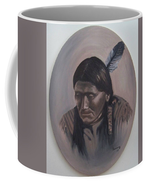 Michael Coffee Mug featuring the painting The Story Teller by Michael TMAD Finney