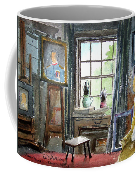 Bill Holkham Coffee Mug featuring the painting The Studio Of Juliet Pannett by Bill Holkham
