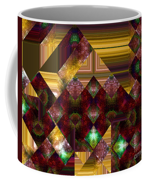 Abstract Coffee Mug featuring the painting The Sublimation Of Desire by RC DeWinter