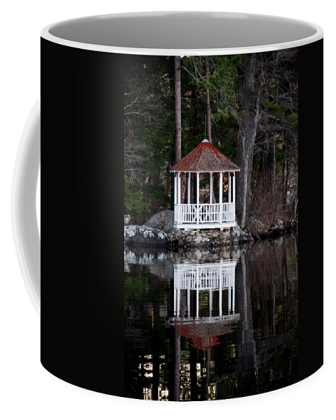 Gazebo Coffee Mug featuring the photograph The Summer House by Skip Willits
