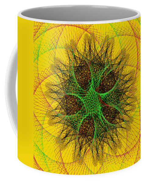 The Sun Coffee Mug featuring the drawing The Sun by Bill Cannon
