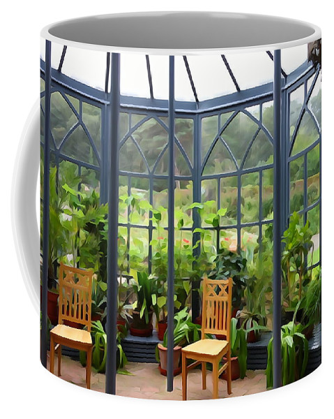 Glass Coffee Mug featuring the photograph The Sun Room by Charlie and Norma Brock