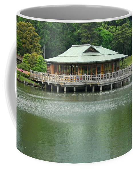 Japanese Coffee Mug featuring the photograph The Tea House by Jonah Anderson