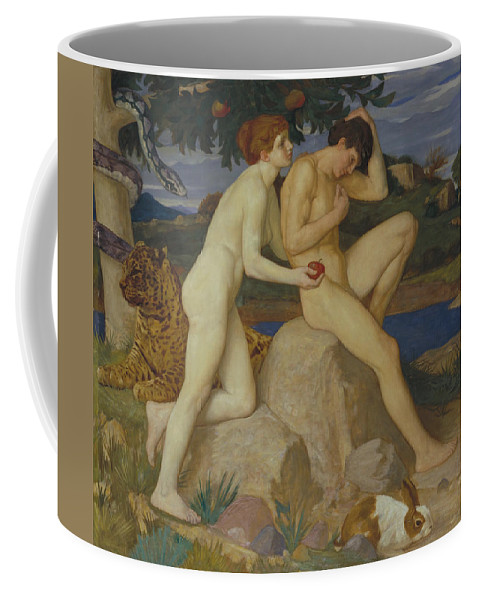 William Strang Coffee Mug featuring the painting The Temptation by William Strang