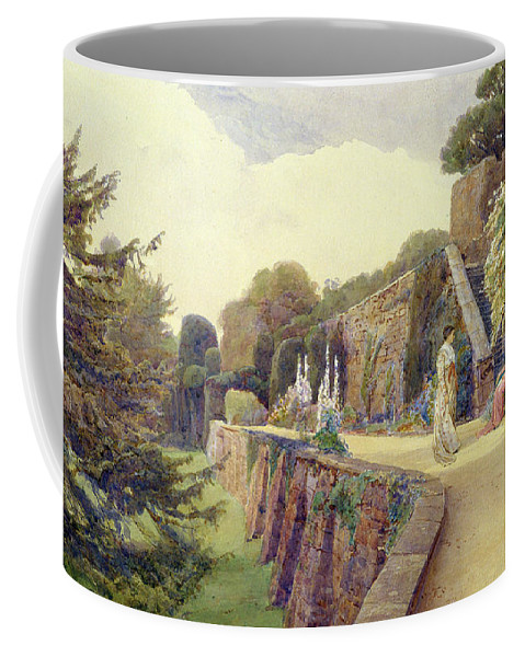 Garden Coffee Mug featuring the painting The Terrace At Berkeley Castle by George Samuel Elgood