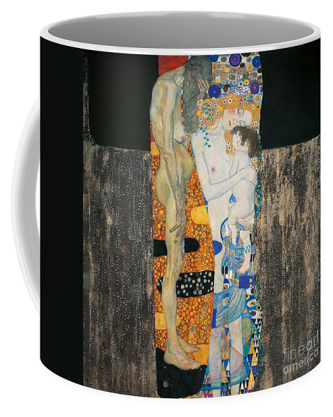 Allegory Coffee Mug featuring the painting The Three Ages Of Woman by Gustav Klimt