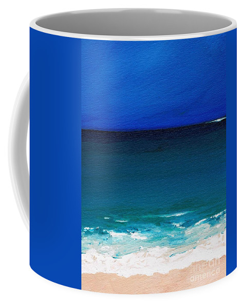 Seashore Coffee Mug featuring the painting The Tide Coming In by Frances Marino