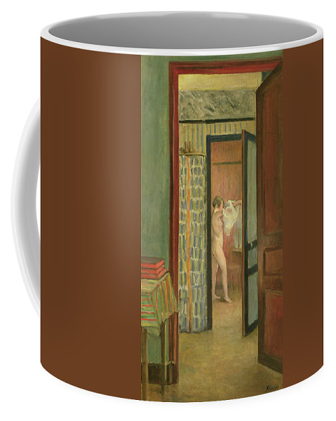 Interior Coffee Mug featuring the painting The Toilet by Henri Lebasque