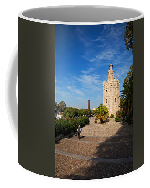 Photography Coffee Mug featuring the photograph The Torre Del Oro, Gold Tower, Military by Panoramic Images