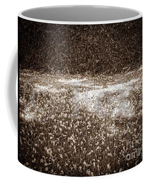 Beige Coffee Mug featuring the photograph The Touch No.56 by Fei A