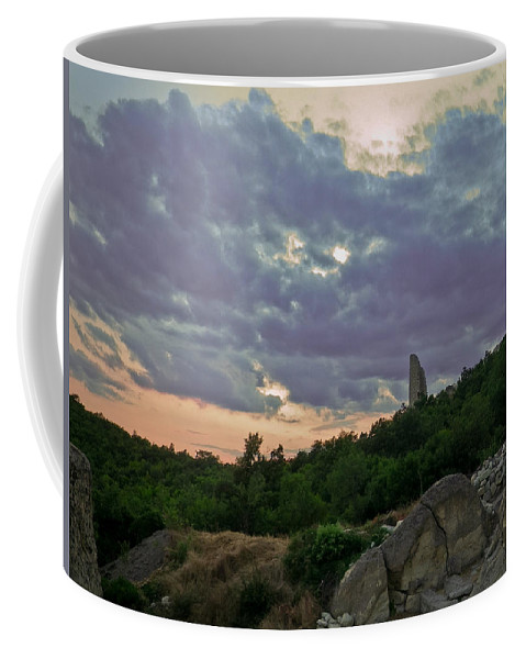 Perperikon Coffee Mug featuring the photograph The Tower by Eti Reid