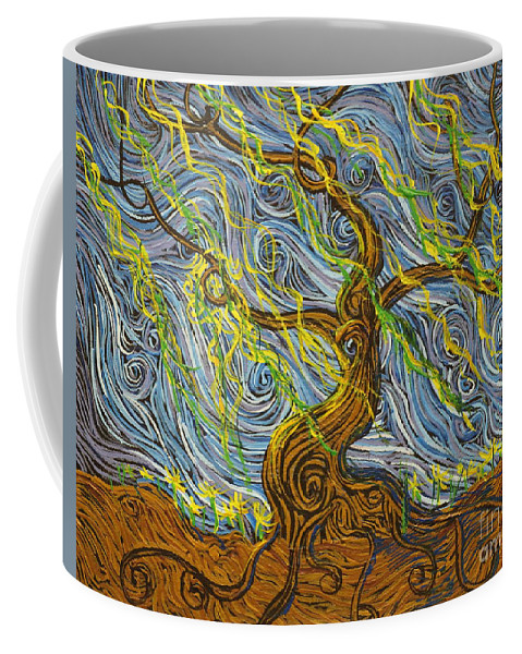Impressionism Coffee Mug featuring the painting The Tree Have Eyes by Stefan Duncan