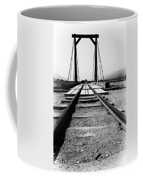 Train Coffee Mug featuring the photograph The Turntable by Cat Connor