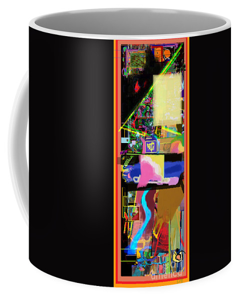 Torah Coffee Mug featuring the digital art The Tzaddik Lives On Emunah 15 by David Baruch Wolk