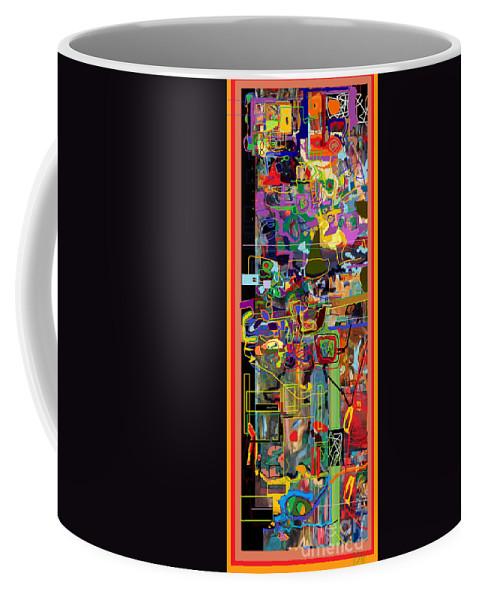 Torah Coffee Mug featuring the digital art The Tzaddik Lives On Emunah 2 by David Baruch Wolk