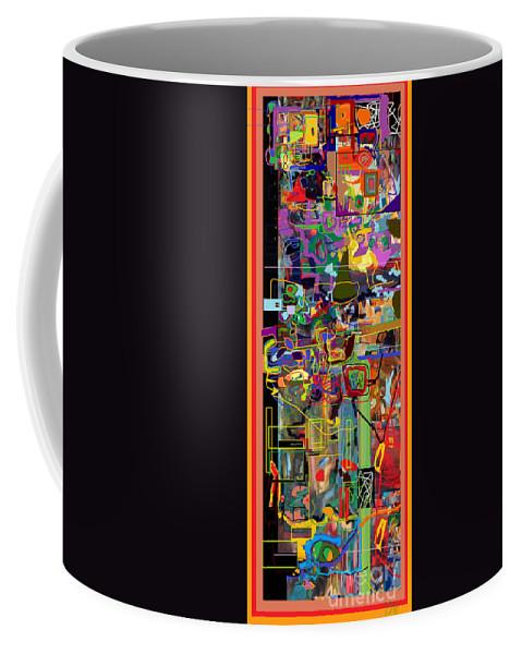 Torah Coffee Mug featuring the digital art The Tzaddik Lives On Emunah 3 by David Baruch Wolk