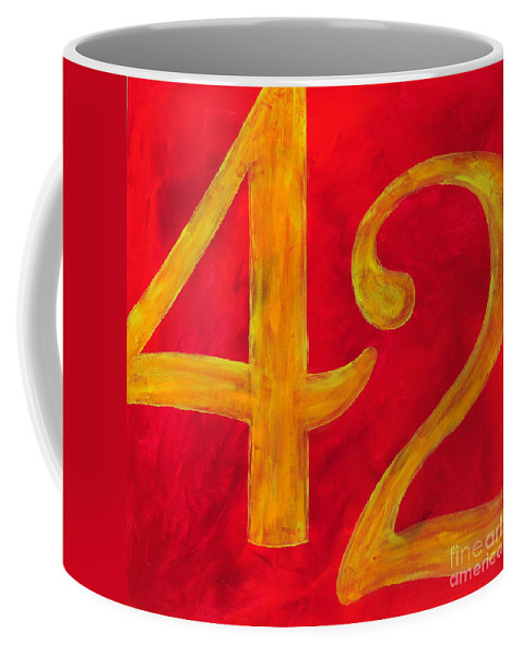 Douglas Coffee Mug featuring the painting The Ultimate Answer by Paulette B Wright