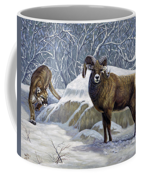 Nature Coffee Mug featuring the painting The Unexpected by Gregory Perillo